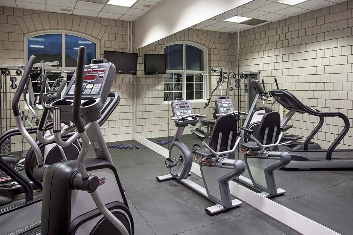 A fitness center with state-of-the-art exercise equipment